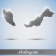 shiny icon in form of Malaysia