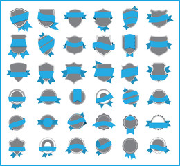 Blue stickers (set 3)