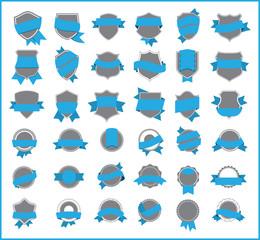 Blue stickers (set 3)