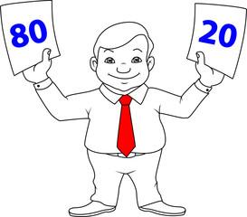 businessman, choice, 80/20