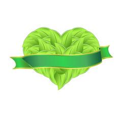 Сердце из листьев