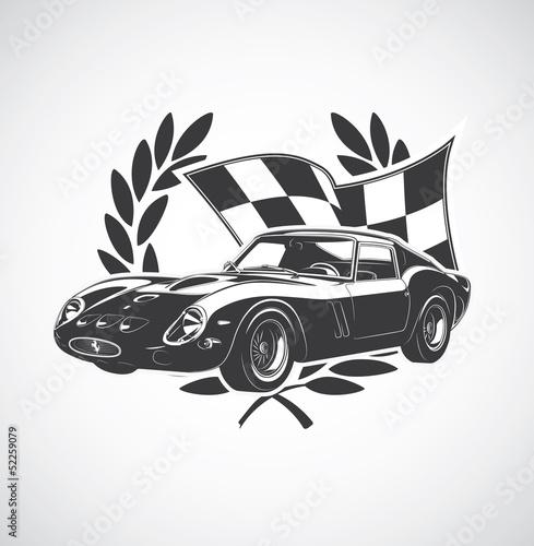 Fototapeta racing Car fer