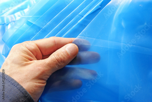 Leinwanddruck Bild Anti-corrosive foil protection
