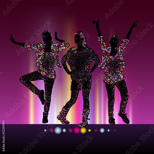 Go-Go night party vector background