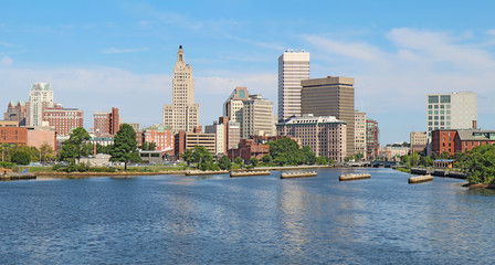 Panoramic skyline of Providence, Rhode Island