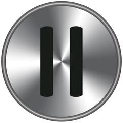 Bottone metallico pausa