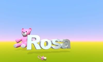 Orsacchiotto Rosa