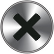 Bottone metallico annulla/canc