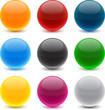 Round colorful balls.