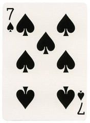 Playing Card - Seven of Spades