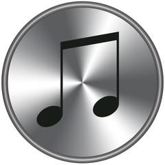 Bottone metallico musica