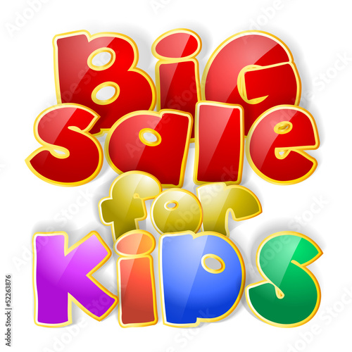 big sale for kids sign