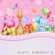 Birthday Card With Balloons, G...