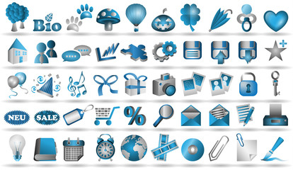 50 Icons Vektor Set