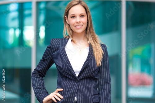 Beautiful businesswoman in an urban setting