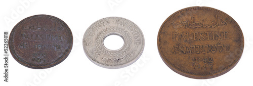 Poster Isolated Palestine Coins