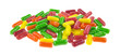 Assorted fruit flavor chewing gum