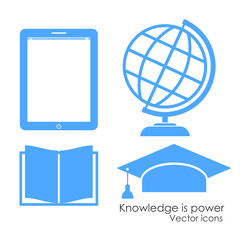 Vector academical icons