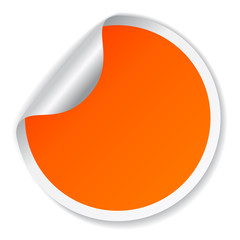 Orange vector sticker