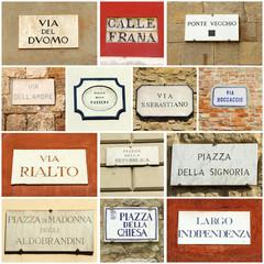 italian street  collage