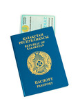 Kazakhstan passport and national id isolated on white background