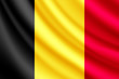 Waving flag of Belgium, vector