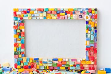 Mosaic handmade frame