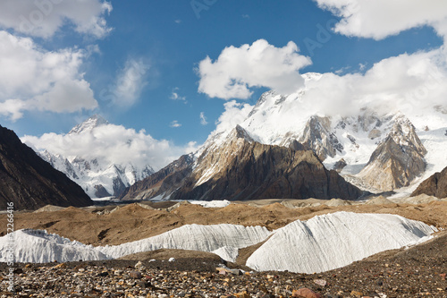 K2 and Broad Peak in the Karakorum Mountains