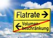 Wegweiser mit Flatrate und Volumenbeschränkung