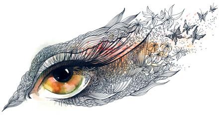 decorated human eye