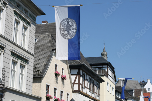 Arnsberg old city with timbered houses