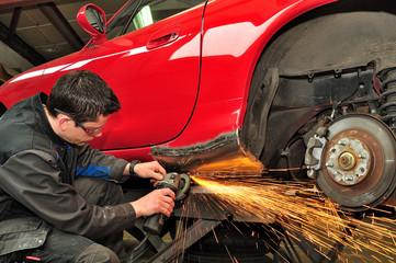 Car body repair.