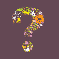 Question mark floral design