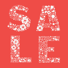 Ornamental floral  SALE banner