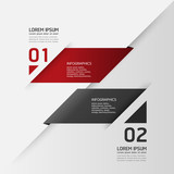 Fototapety Modern Design template / can be used for infographics / numbered