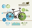 Modern Design bicycle template / can be used for infographics /