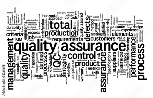 """QUALITY ASSURANCE"" Tag Cloud (tqm total quality management)"