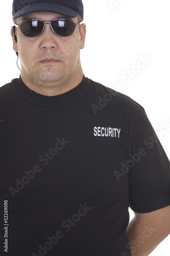 security guard isolated on white