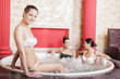Young women in the hot tub