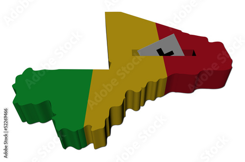 Mali election map with ballot paper illustration