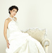 Elegant woman in wedding gown