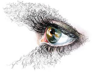 abstract human eyes