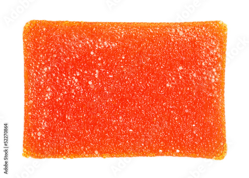 Red salted caviar