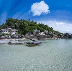 tropical resort ko samui beach thailand