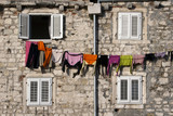 Drying clothes on the wall of Diocletian palace