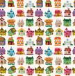 seamless house pattern
