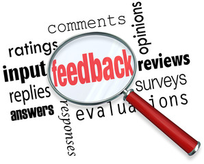 Feedback Magnifying Glass Input Comments Ratings Reviews