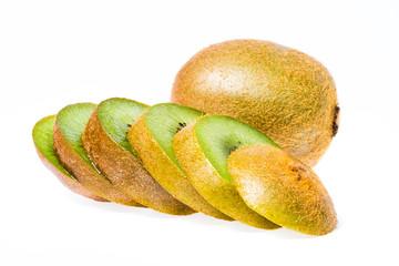 Kiwi fruit sliced isolated
