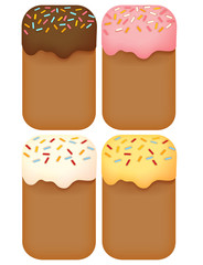 Dessert Background - Vector File EPS10