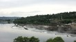 Willamette Falls in Oregon City with Hydro Electric Facility